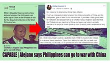Rafael Alunan on Gary Alejanos proposal RP to go to war against China