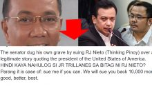 Jay Sonza on Trillanes libel case versus Thinking Pinoy