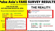Pulse Asia survey fake