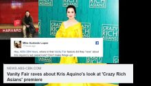 Crazy Rich Asian Kris Aquino
